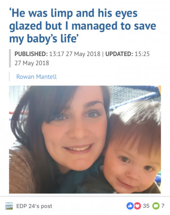 Norfolk Mum Saves Her Choking Baby's Life